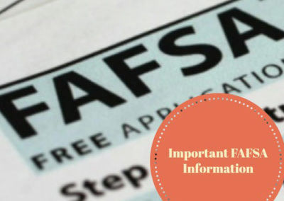 2018-2019 FAFSA: Things to Remember